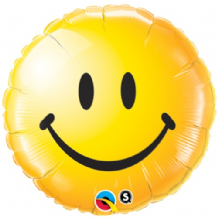 "Smiley Face Yellow Foil Balloon (18"") 1pc"